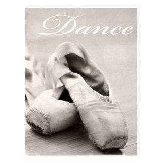 Sepia-Ballett-Pantoffel Pointe Postkarte
