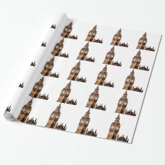 Sepia-Big Ben-Turm Geschenkpapier
