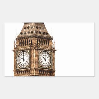 Sepia-Big Ben-Turm Rechteckiger Aufkleber