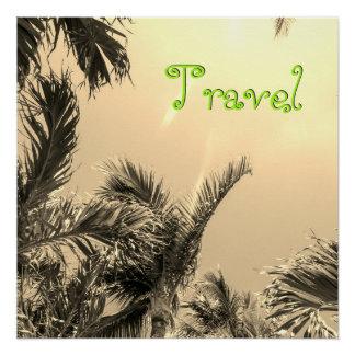 Sepia-exotische Reise Poster