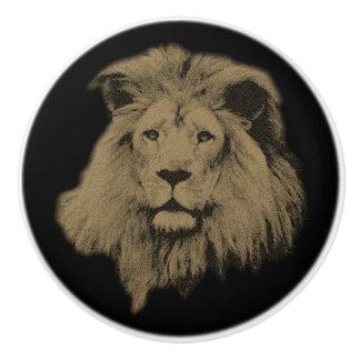 Sepia-Löwe Keramikknauf