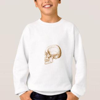Sepia-Menschenschädel Sweatshirt