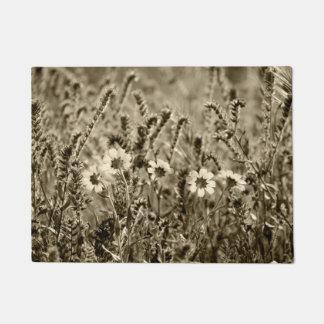Sepia mit Blumen Türmatte