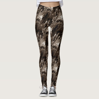 Sepia-Muster Leggings