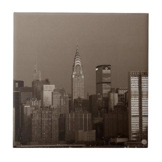 Sepia-New- York CitySkyline Keramikfliese