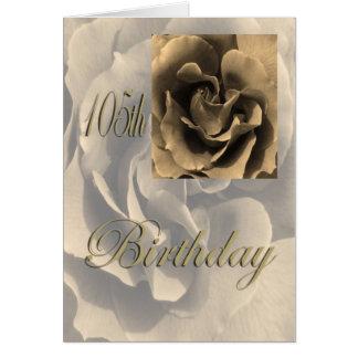 Sepia-Rosen-glücklicher 105. Geburtstag Karte