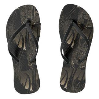 Sepia sci FI-Fraktal Flip Flops