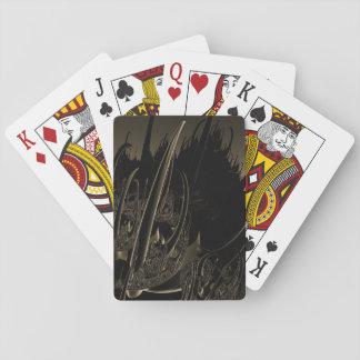 Sepia Sci FI-Fraktal Spielkarten