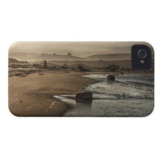 Sepia-Strand-blaues Wasser-Galaxie-mutiger Kasten iPhone 4 Hülle