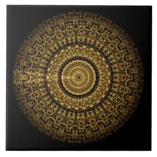 Sepia-Tantric Mandala-Fliese 1 Keramikfliese