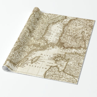 Sepia-Ton-Karte der skandinavische Geschenkpapier