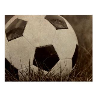 Sepia tonte Fußball Postkarte