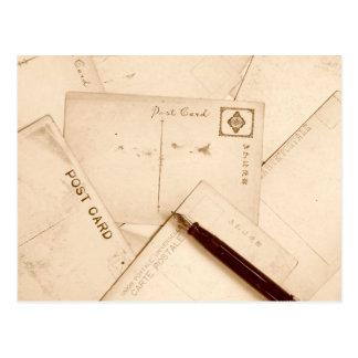 Sepia tonte Vintage Postkarten