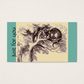 Sepia-Vintage Cheshire-Katzen-Alice im Wunderland Visitenkarte