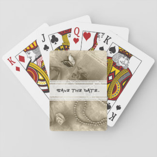 Sepiasammlung Spielkarten
