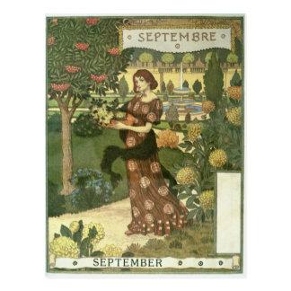 September Postkarte