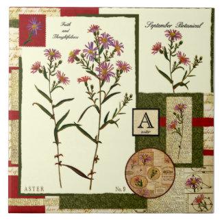 Septembers Blume Große Quadratische Fliese