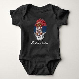 Serbian-Touch-Fingerabdruckflagge Baby Strampler