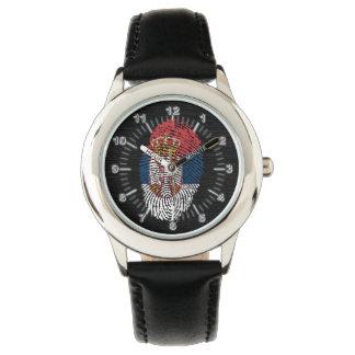 Serbian-Touch-Fingerabdruckflagge Uhr