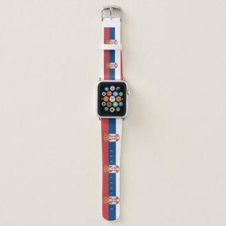 Serbien-Flagge Apple Watch Armband