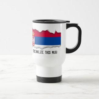 Serbien-Flagge Reisebecher