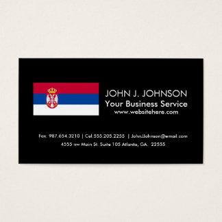 Serbien-Flagge Visitenkarte