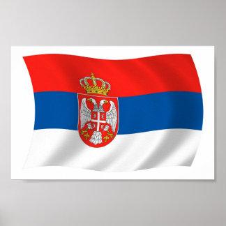 Serbien-Flaggen-Plakat-Druck