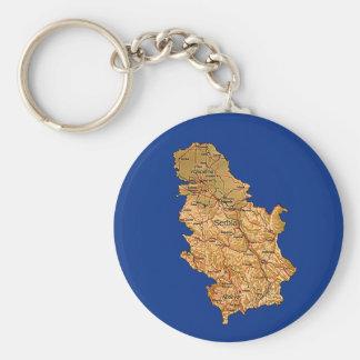 Serbien-Karte Keychain Schlüsselanhänger