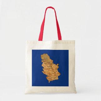 Serbien-Karten-Tasche Tragetasche