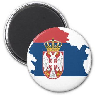 Serbien Runder Magnet 5,1 Cm