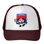 Serbien-Tennis-Panda Truckerkappen