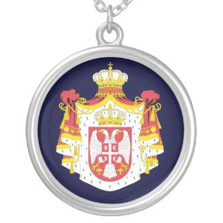 Serbien-Wappen Versilberte Kette