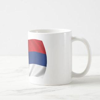 Serbische Flagge Kaffeetasse
