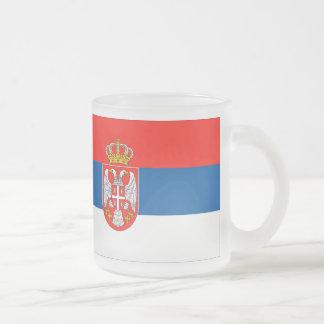 Serbische Flagge Mattglastasse