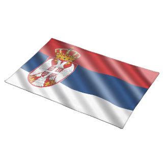 Serbische Flagge Tischset