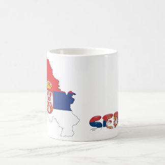 Serbische Landesflagge Kaffeetasse