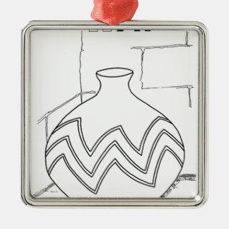 serbisches kyrillisches Glas Silbernes Ornament