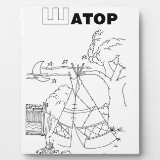 serbisches kyrillisches Zelt Fotoplatte