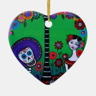 Serenata besonderes Para Axl Keramik Herz-Ornament
