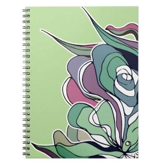 Serendipity-Blumenwaldnotizbuch Spiral Notizblock