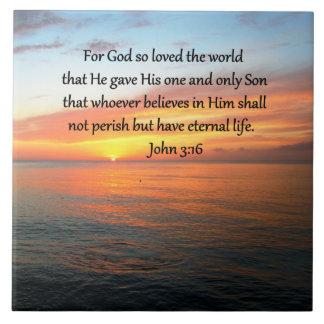 SERENE JOHN-3:16 SONNENAUFGANG-FOTO FLIESE