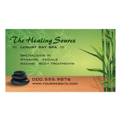 Serene Massage-und Wellness-Center-Verabredung Visitenkarte