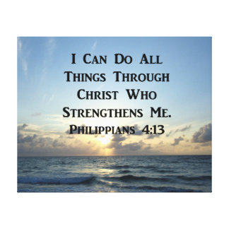 SERENE PHILIPPIANS-4:13 FOTO-ENTWURF LEINWANDDRUCK