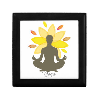 Serene Yoga-Lotos-Pose Geschenkbox