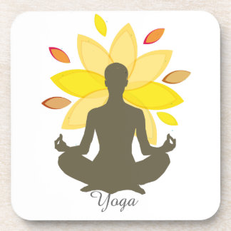 Serene Yoga-Lotos-Pose Getränkeuntersetzer