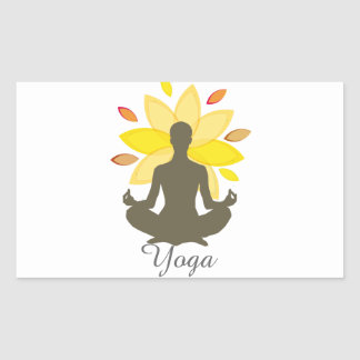 Serene Yoga-Lotos-Pose Rechteckiger Aufkleber