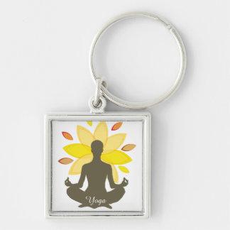 Serene Yoga-Lotos-Pose Schlüsselanhänger