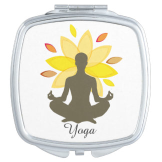 Serene Yoga-Lotos-Pose Schminkspiegel