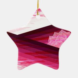 Serene zeitgenössischer Blumen-Entwurf Keramik Ornament