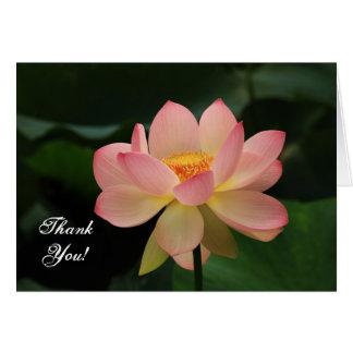 Serenity-danken rosa Lotos-Blumen-Buddhist Ihnen Grußkarte